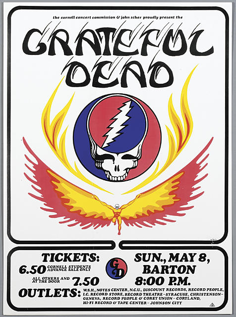 Grateful Dead Winged Skull Ticket