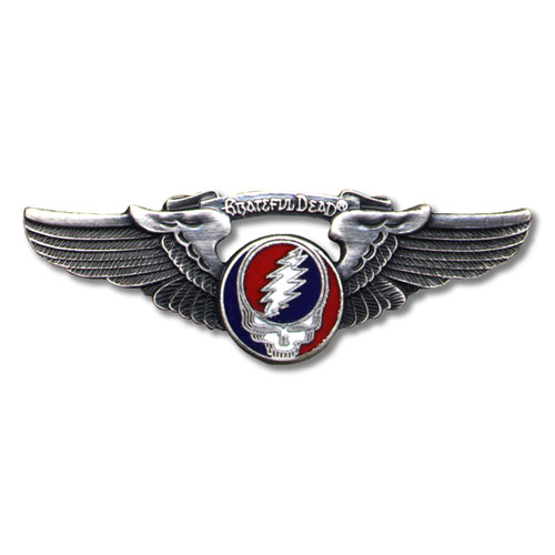 Grateful Dead Winged Skull pin