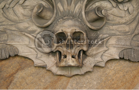 Durham cathedral winged skull