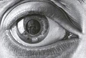 skull reflected in eye